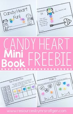 This FREEBIE is a fun and new way to use candy conversation hearts in your classroom! This mini-book is full of math activities that use conversation hearts, including counting, estimation, non-standard measurement, ten frames, comparing sets, and addition! You'll love that this activity goes beyond the typical sorting and graphing of conversation hearts, and your students will love the interactive and edible fun!