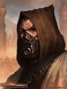"""Check out www.DuneArtGroup.tumblr.com for more Dune art! Much more to come soon. """"The Preacher was blind, his eye sockets black and scarred in a way that could have been done by a stone burne..."""