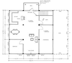 Cadsmith 3 bay garage with 2 bedroom apartment over plan for 4 car garage plans with living quarters