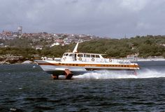 """The hydrofoil """"Fairlight"""" Sydney Ferries, The Old Days, Aerial View, Historical Photos, New Day, Boats, Nostalgia, Old Things, History"""