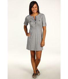 Patagonia Kamala Henley Dress Isabel/Feather Grey Heather - with leggings