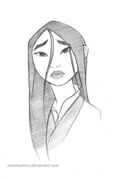 Mulan II by xXSamyahXx conceptartdrawing concept art drawing sketches # Disney Drawings Sketches, Disney Princess Drawings, Cool Art Drawings, Pencil Art Drawings, Cartoon Drawings, Drawing Sketches, Drawing Disney, Drawing Ideas, Disney Princesses