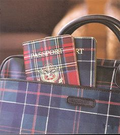 Passport covers that I think are very chic! Want to find out where to get one in Clan McCullough tartan. Scottish Plaid, Scottish Tartans, Style Anglais, Tartan Fashion, Tartan Kilt, Tartan Pattern, Passport Cover, Travel Accessories, Leather Accessories