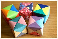 Cubos de Colores hechos de Papel [ Origami ] - Tutorial