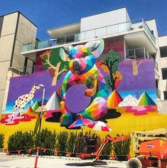 by Okuda in Perth, Australia, (LP) Clever Kids, Okuda, Street Art Graffiti, Street Artists, Cool Photos, Interesting Photos, Urban Art, Creative, Perth Australia