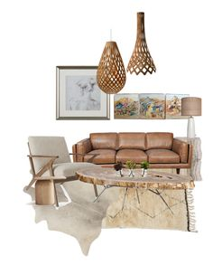 """Camel/ beige/neutrals"" by iphigeniabythesea on Polyvore featuring interior, interiors, interior design, home, home decor, interior decorating, CB2, Mitchell Gold + Bob Williams, David Trubridge and Nearly Natural"