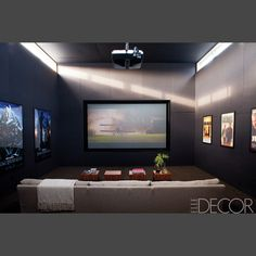 Home Theater Ideas, Home Theater Design, Home Cinemas, Movies, Design Interior, Big Screen Television, Projector Screen,  Entertainment Room