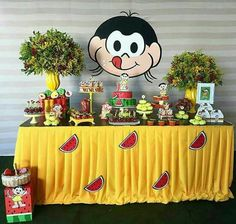 Decoration watermelon Magali Decoração melancia Magali Turma da Mônica