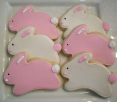 bunny cookies- treats for a party... maybe :)