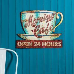 Morning Café Sign - View All Kitchen - Kitchen - Kitchen, Bed & Bath