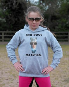 Are you too cool for school?? Soft Finish Hood. 80% cotton 20% polyester, double fabric hood, kangaroo pouch RRP: £24.99