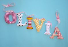 Customized fabric name banner  fabric by LittleFairyCottage, $7.00