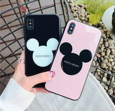 Cute Mickey Mouse Case For iPhone X 6 7 8 Plus Tempered Glass Glossy Cover Iphone 7 Plus, Iphone 6, Coque Iphone, Apple Iphone, Iphone 32gb, 3d Iphone Cases, Disney Phone Cases, Diy Phone Case, Gadgets For Dad