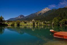 https://flic.kr/p/8pCgMv | With a boat | Lake Preddvor, Slovenia