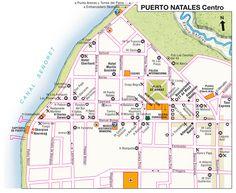 mapa turistico puerto natales - Buscar con Google