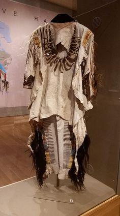 Booth museum. Blackfoot quilled buckskin shirt and leggings