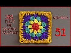 365 Days of Granny Squares Number 51 - YouTube