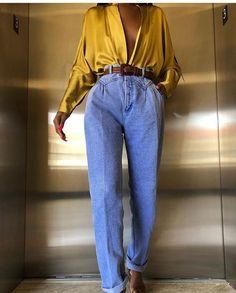 Trend Fashion, Look Fashion, Retro Fashion, Fashion Vintage, Jeans Fashion, 80s Womens Fashion, City Fashion, Fashion Hacks, Lolita Fashion