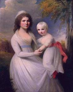 George Romney - Mrs. Thomas Sanderson and Child