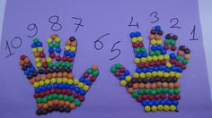 Learn Colors with m&m's Candy Hand and 1 to 10 ! How to Make