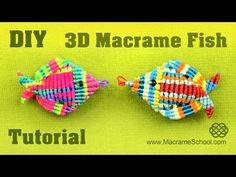 ▶ 3D Macramé Fish Tutorial - Pesce, Pescado, Poisson, Peixe, Fisch - YouTube