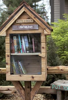 A #library sprouts overnight: Hundreds of 'take one, give one' libraries honor a book lover.