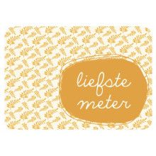 Postkaart Liefste Meter