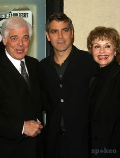 George Clooney and His Father Nick and His Stepmother - 'Confessions of a Dangerous Mind' - Los Angeles Premiere - Mann Bruin Theater, Westwood, CA - December 11, 2002 - Photo by Nina Prommer/Globe Photos Inc2002 K27589n