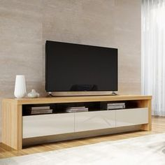 online shopping for Makiver TV Stand TVs 88 Orren Ellis from top store. See new offer for Makiver TV Stand TVs 88 Orren Ellis Tv Cabinet Design, Tv Wall Design, Tv Unit Design, Booth Design, Banner Design, Tv Furniture, Living Room Furniture, Furniture Stores, Barbie Furniture