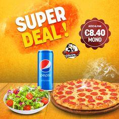 Pepsi, Pepperoni, Pizza, Food, Essen, Meals, Yemek, Eten