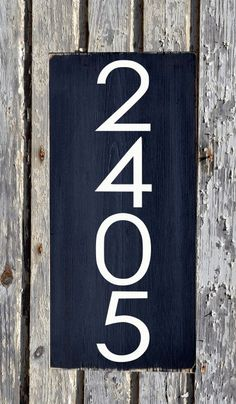 Address Modern House Numbers Sign Unique Mid Century Custom Wood Plaque Outdoor Industrial Personalized Number Signs