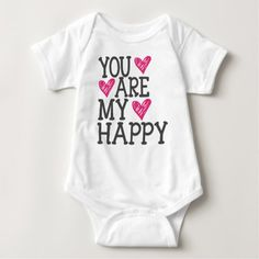 You Are My Happy Love Quote Baby Bodysuit #kidsclothing #babyclothing