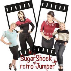 Für kühle Tage und Schmuddelwetter...  sind die #40erJahre #retrostyle Strickpullover von #SugarShock genau das richtige zum Wohlfühlen!   Eine breite Auswahl findet Ihr in unserem Shop unter: https://www.goinsane.de/Girls-Clothes-40s-50s-Retro-Strickmode.html  #rockabillymode #retrofashion #rockabillyfashion #pinupstyle #rockabillyshop #50s #retromode #Sommerschlussverkauf #rockabillyonlineshop #rockabilly