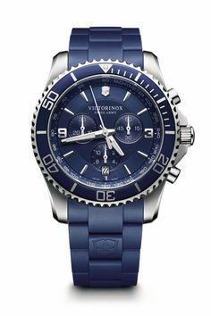 477a2f83fd8 Victorinox-Maverick-Mostrador-azul-pulseira-de-borracha-azul Pulseiras