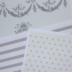 Free Printable French Themed Dolls House Wallpapers for Three Different Scales of Dollhouse