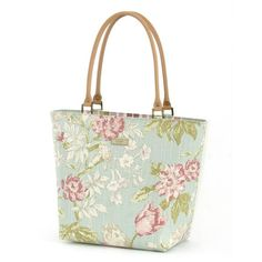 9b7bb07b5e Blue Floral Shoulder Bag   Leather Trim £89