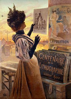 Illustration, 1890s, by Frederic Alexianu, a.k.a. Hugo d'Alesi (French, 1849-1906)