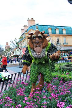 Beast Topiary During the International Flower and Garden Festival in Epcot at Walt Disney World - #BeautyandtheBeast