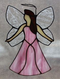 Stained Glass Angel Suncatcher by OnlineGlass on Etsy, $20.00
