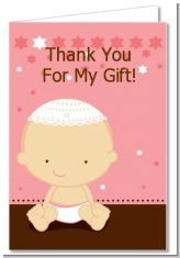 If you are Jewish then this a super cute thank you card for a baby shower for having a baby girl :)