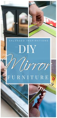 Are you loving this glam mirrored furniture trend? Learning how to cut your own glass and mirror has many benefits. You can create any shape or design and save time and money by re-purposing old mirrors! Diy Mirrored Furniture, Furniture Makeover, How To Cut Mirror, Simple Diy, Easy Diy, Glam Mirror, Old Mirrors, Beautiful Mirrors, Inspiration