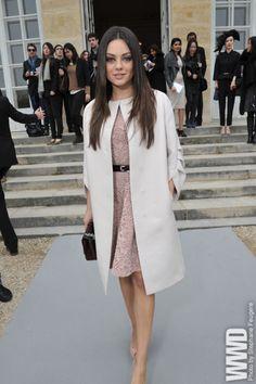 Front Row at Christian Dior- Mila Kunis
