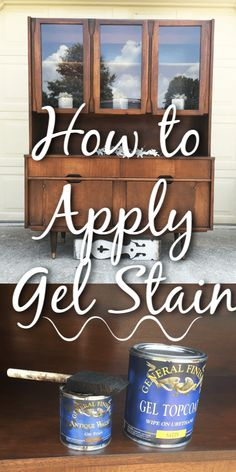 How To Use Gel Stain on Wood Furniture - Let's Paint Furniture! - How To Use Gel Stain on Wood Furniture – Let's Paint Furniture! How To Use Gel Stain on Wood Furniture – Let's Paint Furniture! Gel Stain Furniture, Diy Furniture Projects, Furniture Makeover, Repurposed Furniture, Cheap Furniture, Laminate Furniture, Furniture Dolly, Furniture Design, Diy Furniture Refinishing