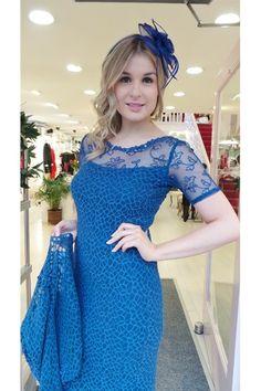 111 Ann Balon Navy Lace Dress & Jacket