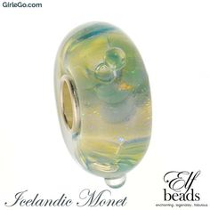 Elfbeads Icelandic Monet glass bead from the Jingle Elfs Collection g160801 at GirleGo