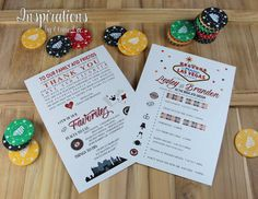 Hey, I found this really awesome Etsy listing at https://www.etsy.com/listing/215964430/vegas-wedding-itineraries