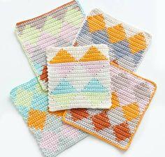 DIY Tapestry Crochet Dishcloths