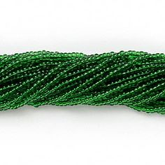 Seed bead, Preciosa, Czech glass, transparent green,