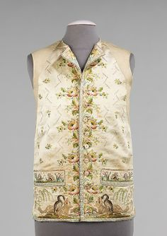 Waistcoat 1780-1800 The Metropolitan Museum of Art Waistcoats and vests of the 18th and 19th centuries served as a layer protection and orna...