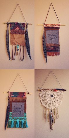 Roots and Feathers // Violet Bella: BOHEMIAN PRAYER FLAGS // WALL HANGINGS